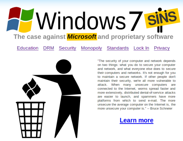 Windows 7 Sins