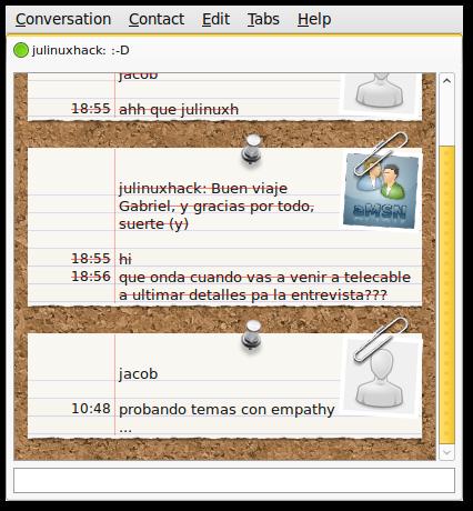 Ubuntu 9.10: Como Usar temas de adium en el mensajero Empathy